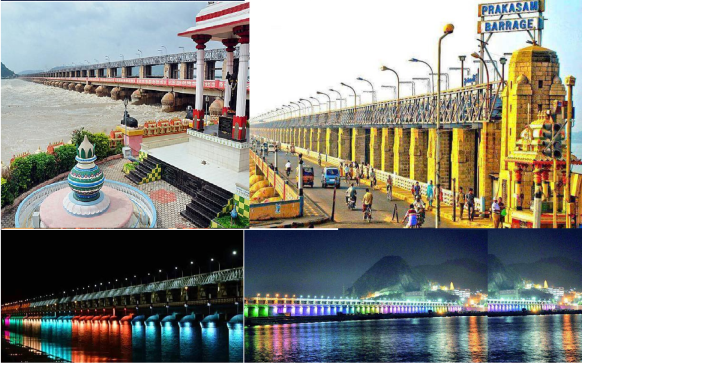 Prakasam barrage collage